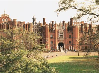 Hampton Court Palace Front Through Trees