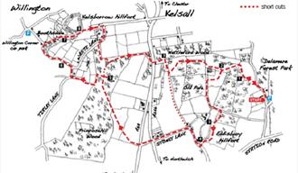 A Circular Walks around Eddisbury and Kelsborrow Hillforts