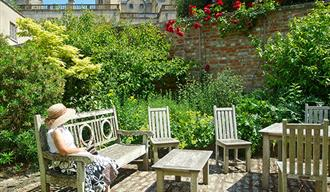 Sherborne Castle Tea Room Outside Seating