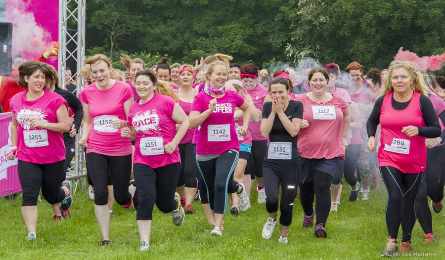 Burghley House: Race for Life and Pretty Muddy for Cancer Research